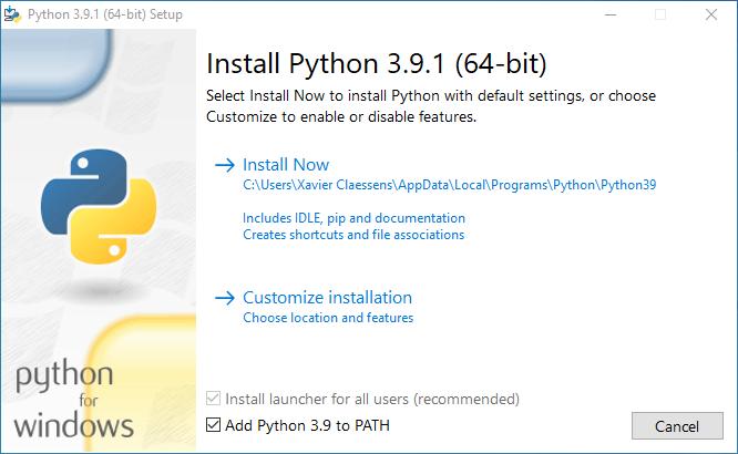 Collabora - Installing Python