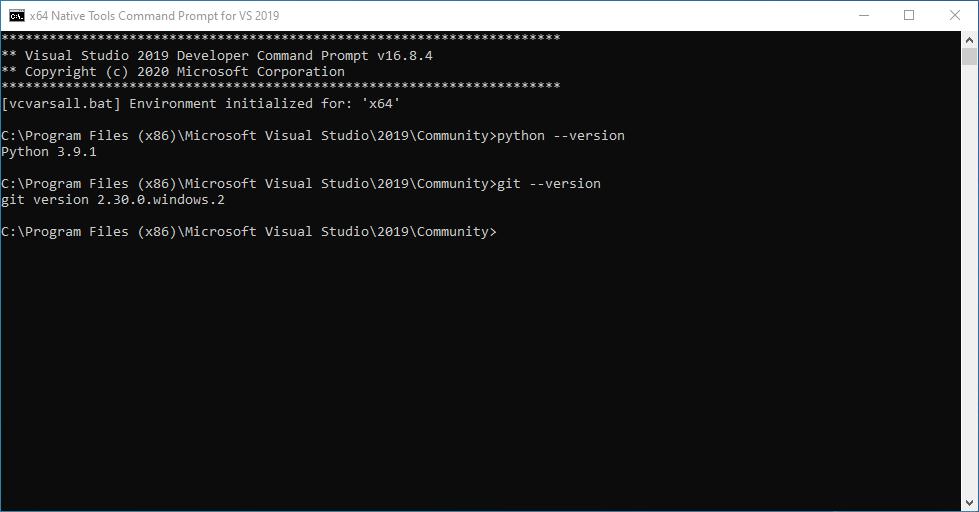 Collabora - Visual Studio Developer Command Prompt