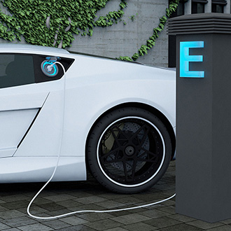 Electric car charging image